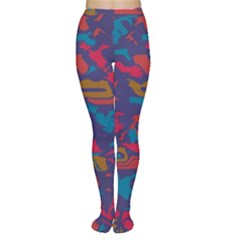 Chaos In Retro Colors Tights