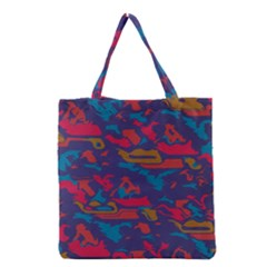 Chaos In Retro Colors Grocery Tote Bag