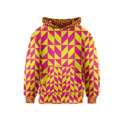 Pink And Yellow Shapes Pattern Kid s Pullover Hoodie