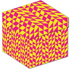 Pink and yellow shapes pattern Storage Stool