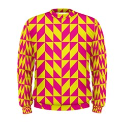 Pink And Yellow Shapes Pattern  Men s Sweatshirt