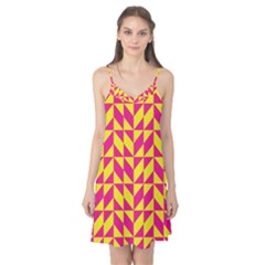 Pink and yellow shapes pattern Camis Nightgown