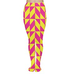 Pink and yellow shapes pattern Tights