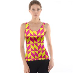 Pink and yellow shapes pattern Tank Top