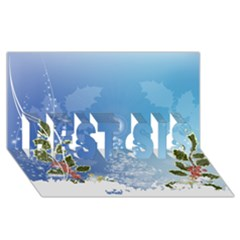 Christmas Tree BEST SIS 3D Greeting Card (8x4)