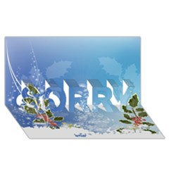 Christmas Tree SORRY 3D Greeting Card (8x4)