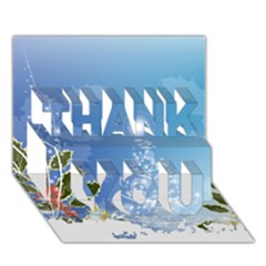 Christmas Tree Thank You 3d Greeting Card (7x5)