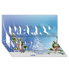 Christmas Tree Merry Xmas 3d Greeting Card (8x4)