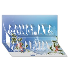 Christmas Tree Congrats Graduate 3D Greeting Card (8x4)