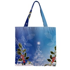 Christmas Tree Zipper Grocery Tote Bags