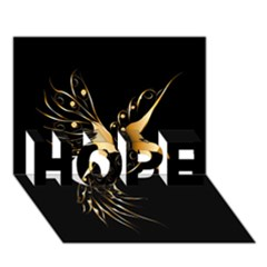 Beautiful Bird In Gold And Black Hope 3d Greeting Card (7x5)