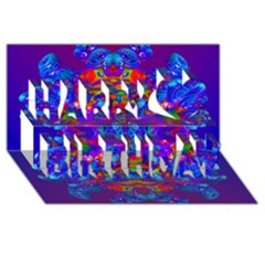 Abstract 4 Happy Birthday 3D Greeting Card (8x4)