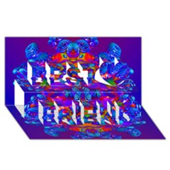 Abstract 4 Best Friends 3D Greeting Card (8x4)
