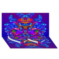 Abstract 4 Twin Heart Bottom 3D Greeting Card (8x4)