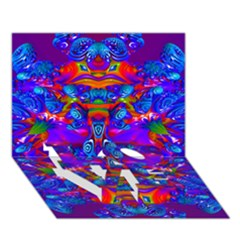 Abstract 4 LOVE Bottom 3D Greeting Card (7x5)