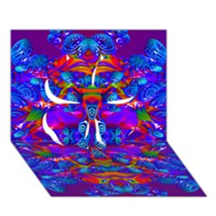 Abstract 4 Clover 3D Greeting Card (7x5)