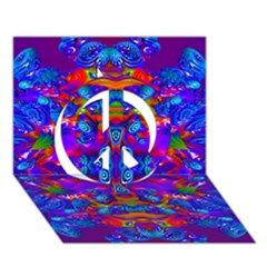 Abstract 4 Peace Sign 3D Greeting Card (7x5)
