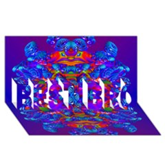 Abstract 4 BEST BRO 3D Greeting Card (8x4)