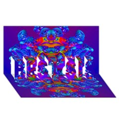 Abstract 4 BEST SIS 3D Greeting Card (8x4)