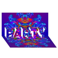 Abstract 4 Party 3d Greeting Card (8x4)