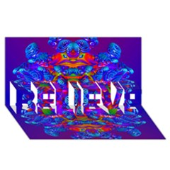 Abstract 4 Believe 3d Greeting Card (8x4)