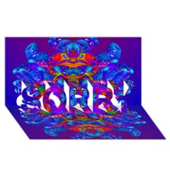 Abstract 4 SORRY 3D Greeting Card (8x4)
