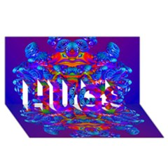 Abstract 4 HUGS 3D Greeting Card (8x4)