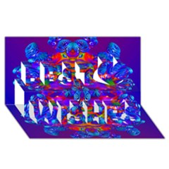 Abstract 4 Best Wish 3d Greeting Card (8x4)