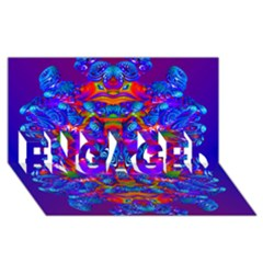 Abstract 4 ENGAGED 3D Greeting Card (8x4)