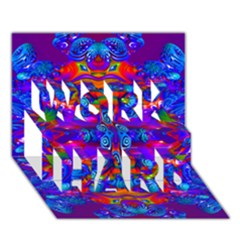 Abstract 4 Work Hard 3d Greeting Card (7x5)
