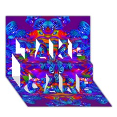 Abstract 4 TAKE CARE 3D Greeting Card (7x5)