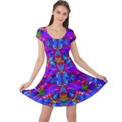 Abstract 4 Cap Sleeve Dresses