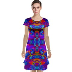 Abstract 4 Cap Sleeve Nightdresses