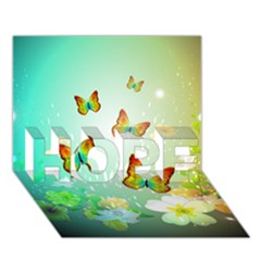 Flowers With Wonderful Butterflies Hope 3d Greeting Card (7x5)