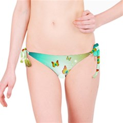 Flowers With Wonderful Butterflies Bikini Bottoms