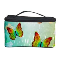 Flowers With Wonderful Butterflies Cosmetic Storage Cases