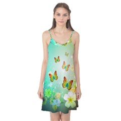 Flowers With Wonderful Butterflies Camis Nightgown