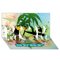 Surfing MOM 3D Greeting Card (8x4)