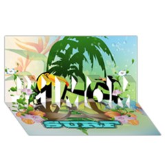 Surfing #1 MOM 3D Greeting Cards (8x4)