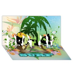 Surfing Best Sis 3d Greeting Card (8x4)