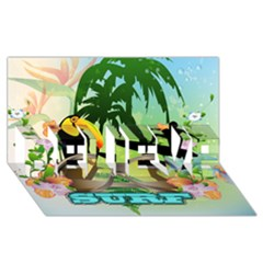 Surfing BELIEVE 3D Greeting Card (8x4)