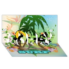 Surfing Sorry 3d Greeting Card (8x4)