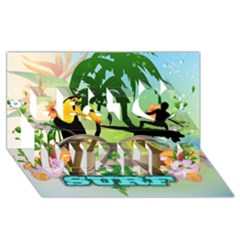 Surfing Best Wish 3D Greeting Card (8x4)