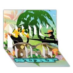 Surfing You Did It 3D Greeting Card (7x5)