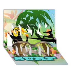 Surfing Get Well 3d Greeting Card (7x5)