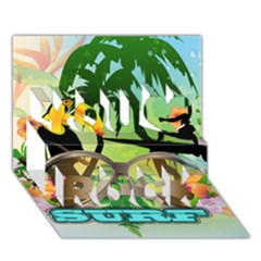 Surfing You Rock 3D Greeting Card (7x5)