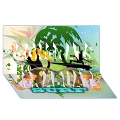 Surfing Congrats Graduate 3d Greeting Card (8x4)