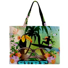 Surfing Zipper Tiny Tote Bags