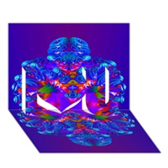 Abstract 5 I Love You 3D Greeting Card (7x5)