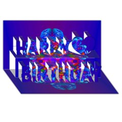 Abstract 5 Happy Birthday 3D Greeting Card (8x4)